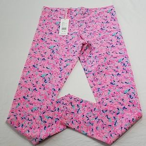 New Girls Vineyard Vines Pink Whale Leggings